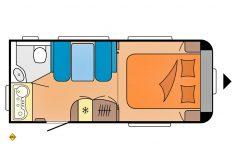 Grundriss Hobby De Luxe 460 SFf. (Grafik: Werk)