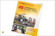 """Der Ausbauprofi, Reimos """"Bibel"""" für den Ausbau von Campingbussen mit Möbel-Bausätzen als Jubiläumsausgabe. (Foto: det / D.C.I.)"""
