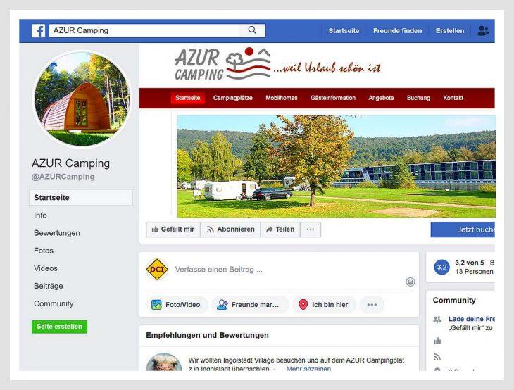 Der Chef der AZUR Freizeit GmbH hat per Facebook drängende Fragen an Bundeskanzlerin Merkel gerichtet. (screenshot: tom/DCI/AZUR Camping)