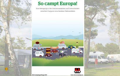 """Ziel der """"So campt Europa""""-Umfrage des niederländischen Der Campingspezialist ACSI (Auto Camper Service International) war es, die Camper in Europa noch besser kennenzulernen. (Foto: ACSI)"""