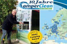 Seit zehn Jahren erfolgreich: Über 325 Reinigungsstationen für Cassetten-Toilettentanks hat CamperClean in 15 Ländern europaweit aufgestellt (Foto: CamperClean).