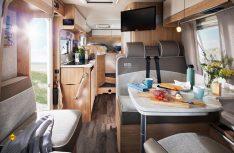 Blick in den Wohnraum des neuen Cruiser Van G 634 G. (Foto: LMC)