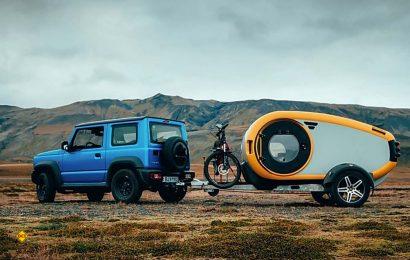 Ein echtes Design-Stück aus Island: Der Teardrop-Caravan Mink 2.0 Sportscamper. (Foto: Mink)