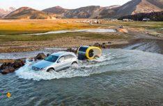 Durch seine robuste Bauart und das Al-Ko-Chassis ist der Mink 2.0 Sportscamper offroad-tauglich. (Foto: Mink)