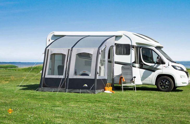 Zeltehersteller dwt hat jetzt eine tolle Ergänzung zur Markise im Programm: Das Air-In-Zelt Speed Air. (Foto: dwt)