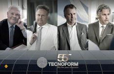 Technoform, der Pionier in der Herstellung von Einrichtungskomponenten, feiert sein 55. Firmenjubiläum. Hier die führenden Köpfe der Eignerfamilie Kerkoc. (Foto: Technoform)