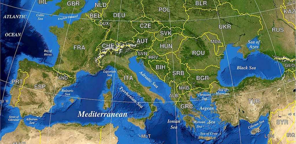 Ein Ausschnitt von Europa auf der geographischen Landkarte. Es gibt viel zu entdecken. (Foto: Clker-Free-Vector-Images/pixabay.com)