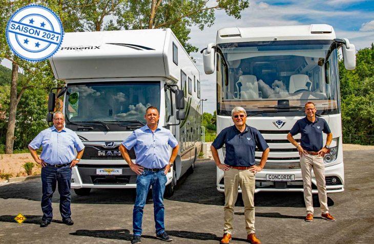 Phoenix-Vertriebsleiter Wolfgang Steinbauer, Oliver Schell, Geschäftsführer Phoenix und Concorde-Geschäftsführer Joachim Baumgartner sowie Vertriebsleiter Concorde Markus Freitag freuen sich auf die LMD 2020. (Foto: Concorde)