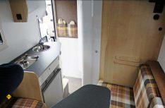 Blick nach hinten auf die Küche und den Sanitärraum. (Foto: det/D.C.I.)