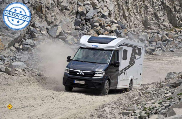 Jetzt können auch größere Reisemobile als der 3,5 t Knaus Sky Ti mit dem Allrad MAN TGE ausgerüstet werden. (Foto: Knaus)