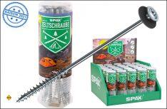 Schrauben-Profi Spax hat jetzt mit der Campingschraube eine Alternative für den Zelt-Hering vorgestellt (Foto: Spax)
