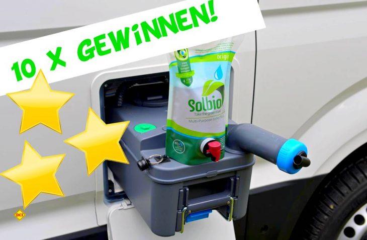 Jetzt beim D.C.I. mitmachen und gewinnen: Der Sanitärzusatz Solbio ist ein 100 Prozent biologisches Produkt. (Foto: det / D.C.I.)