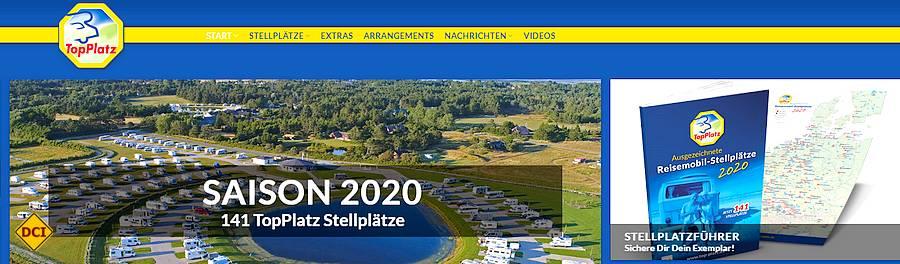 Auf der Webseite von TopPlatz finden sich aktuell 141 Stellplätze. Da findet jeder Mobilreisende die richtige Wohlfühlumgebung. (Foto: screenshot/TopPlatz/D.C.I.)