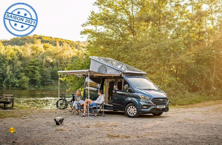 Für den neuen Nugget Plus bringt Ford jetzt eine garagentaugliche Version mit Aufstelldach auf den Markt. (Foto: Ford AG)
