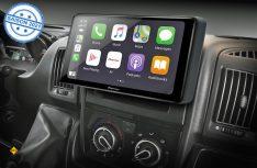 Speziell für den Fiat Ducato stellt Pioneer ein Multimedia-Center mit WiFI und Alexa vor. (Foto: Pioneer)