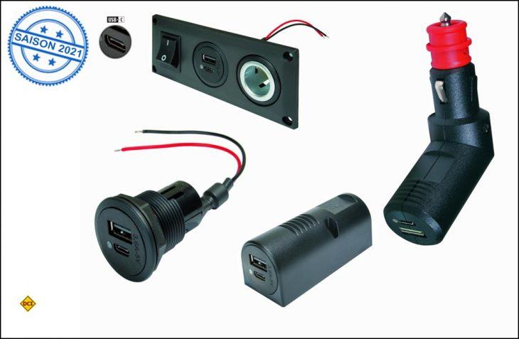 Pro Car bietet den neuen USB-C-Standard als Doppelsteckdosen in zahlreichen Modellen auch zum Nachrüsten. (Foto: Pro Car)