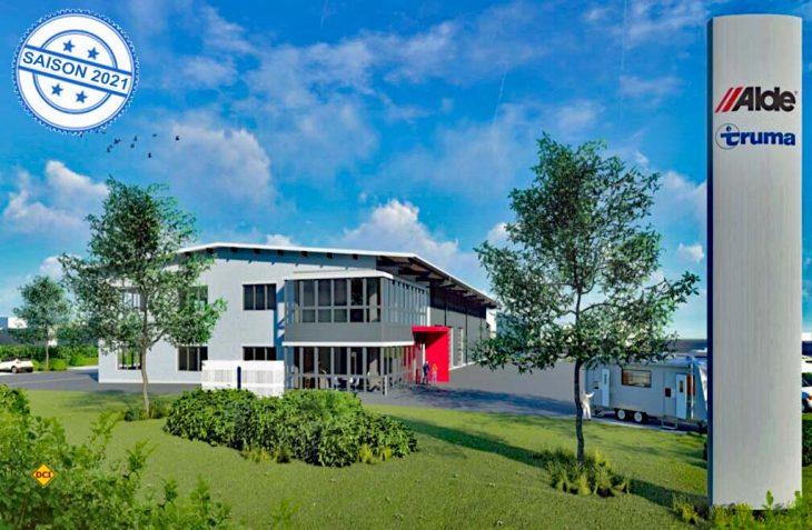 Repräsentativer Standort: So wird die neue Alde-Deutschland-Zentrale im unterfänkischen Euerbach aussehen. (Foto: Alde)