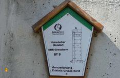 Das Grüne Band mit seinem Gedenkmonumenten wie der DDR-Wachturm soll Mahnung sein und Hoffnung geben. (Foto: det / D.C.I)