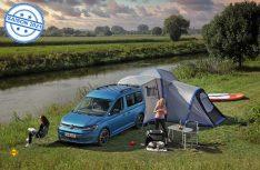 Der neue Caddy California wird mit einem optionalen Zelt zur einer Camping- Residenz. (Foto: VWN)