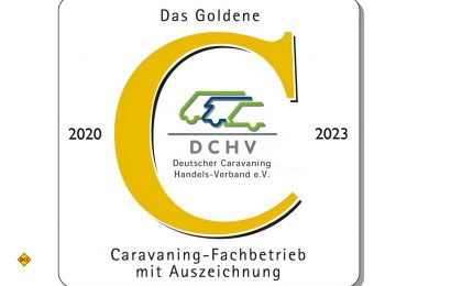 """Zum 30sten mal rief der Deutsche Caravaning Handels-Verband DCHV im Jahr 2020 seine Mitglieder zum bundesweiten Wettbewerb """"Das Goldene C"""" der Caravaning-Fachhändler auf. (Foto: DCHV)"""