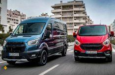Die neuen Trail- und Active-Varianten der beiden Nutzfahrzeug-Baureihen von Ford in Europa verbinden attraktives Crossover-Design mit handfesten Vorteilen im täglichen Einsatz. (Foto: Ford)