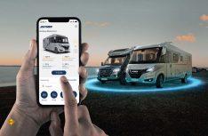 Mit der Connect App bündelt Hymer erstmals die Steuerung zahlreicher Fahrzeugkomponenten sowie die Anzeige von Fahrzeuginformationen in einer einzigen digitalen Plattform. (Foto: Hymer)