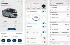 Die Hymer Connect App in Verbindung mit einer zentralen Steuereinheit im Fahrzeug ist die derzeit branchenweit erste Konnektivitätslösung ihrer Art für das vernetzte Reisemobil. (Foto: Hymer)