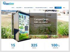 Seit zehn Jahren erfolgreich: Caravaning-Hygienespezialist CamperClean bringt zum Jubiläum eine neue Webseite an den Start. (screenshot: CamperClean).