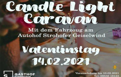 Der Autohof Strohofer in Geiselwind lädt zum romantischen Womo-Candle-Light-Dinner am Valentinstag ein. (Foto: Autohof Strohofer)