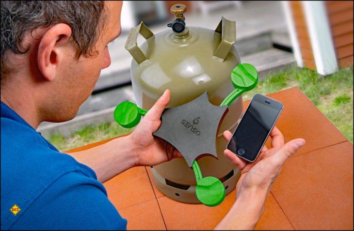 GOK stellt mit dem Senso4s Plus eine digitale Gaswaage mit App für Smartphone und Tablet vor. (Foto: GOK)