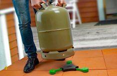 Die Gasflaschenwaage von GOK kann variabel auf verschiedene Flaschentypen bis 16 Kilogramm eingestellt werden. (Foto: GOK)