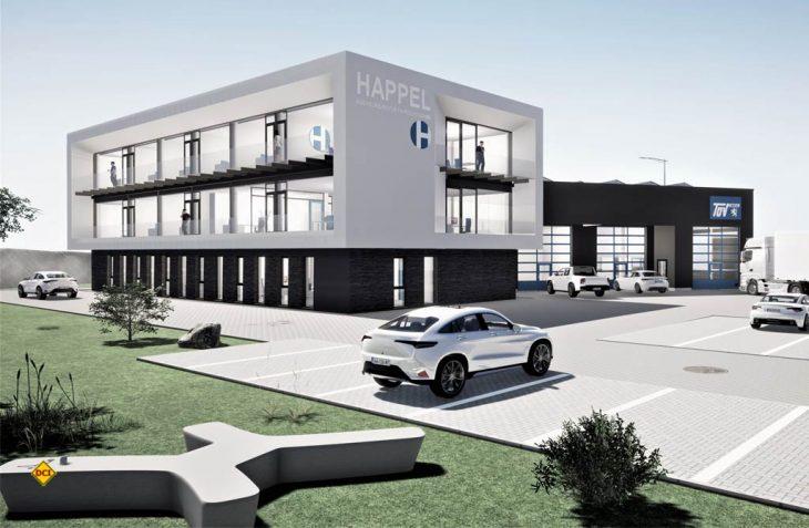 Repräsentativer Neubau: So soll der neue Firmensitz des Sachverständigenbüros Happel in Bad Endbach aussehen. (Grafik: Happel)