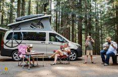 Der US-Ausbauer Peace Vans bringt einen Mercedes-Benz Metris-Ausbau als Full Camper mit Aufstelldach. (Foto: Peace Vans)
