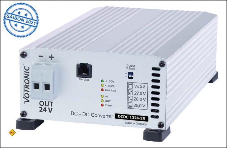 Der DCDC 1224-25 von Votronic sorgt für eine stabile Gleichspannung im Bordnetz und schützt so empfindliche Verbraucher. (Foto: Votronic)