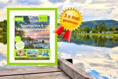 """Auf geht' s ins Jahr 2021 mit dem BVCD-Campingführer. Viele Anregungen und das Special """"Reisen mit Kindern"""" machen das Buch zu einem schönen Geschenk. (Montage: tom; designundfotoart; pixabay.com)"""