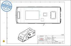 Die Konstruktions-Skizze des LMC Prototypen Style 450 D mit Falt-Schiebedach. (Grafik: LMC)