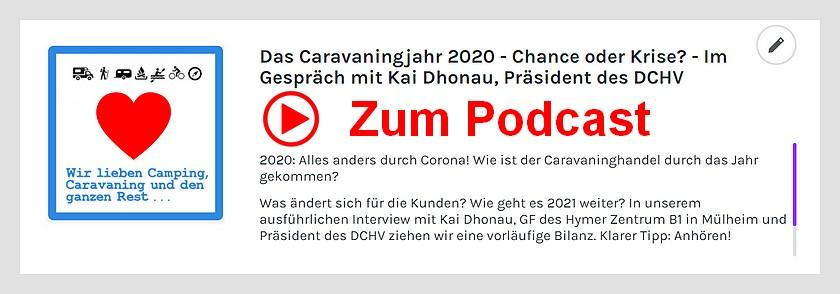 Der Podcast mit Kai Dhonau, Präsident DCHV. Informationen aus erster Hand. (screenshot: tom/dkf)