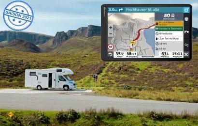 Das Navigationssystem Camper 1090 MT-D kommt als erstes Garmin Camper-Navi mit einem großzügigen 10 Zoll-HD-Touchdisplay. (Foto: Garmin)