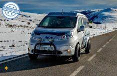 Mit dem Nissan e-NV200 Winter Camper stellt Nissan ein vollelektrisches Konzeptfahrzeug vor, das auch wintertauglich ist. (Foto: Nissan)