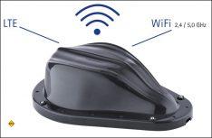 Die neue Oyster Connect von ten Haaft ist eine leistungsfähige WiFi Antenne (2x2 MIMO) und eine LTE – Diversity Antenne. (Foto: ten Haaft)