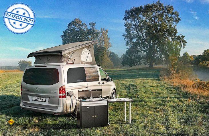 Der VanTourer Urban auf Basis des Mercedes-Benz Vito ist ein voll ausgestattetes Reisemobil, das sich im Alltagsbetrieb auch als Transporter nutzen lässt. (Foto: Eurocaravaning)
