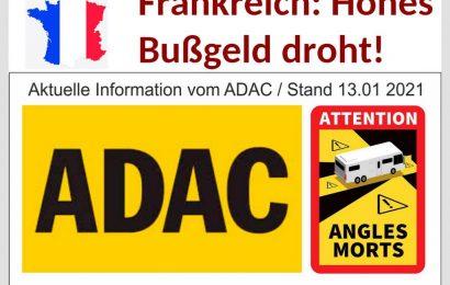 """Neues Jahr, neue Regeln: Für Fahrzeuge über 3,5 t zGM besteht in Frankreich ab sofort Kennzeichnungspflicht """"Toter Winkel"""". (Montage: tom / dkf)"""