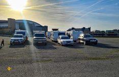 Bunt gemischt und gemeinsam: Die Caravan-Fraktion. (Foto: Campen mit Abstand)
