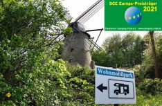 Der Wohnmobilpark an der Windmühle hat 2021 den Europapreis des Deutschen Camping Clubs DCC erhalten. (Foto: DCC)