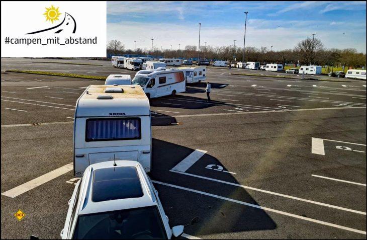 Am 13. März um 14.00 Uhr startet der 2. Caravaning-Korso der Facebook-Gruppe Campen mit Abstand in Düsseldorf, um gegen das undifferenzierte Beherbergungsverbot auf Stell- und Campingplätzen aufmerksam zu machen. (Foto:Campen mit Abstand)