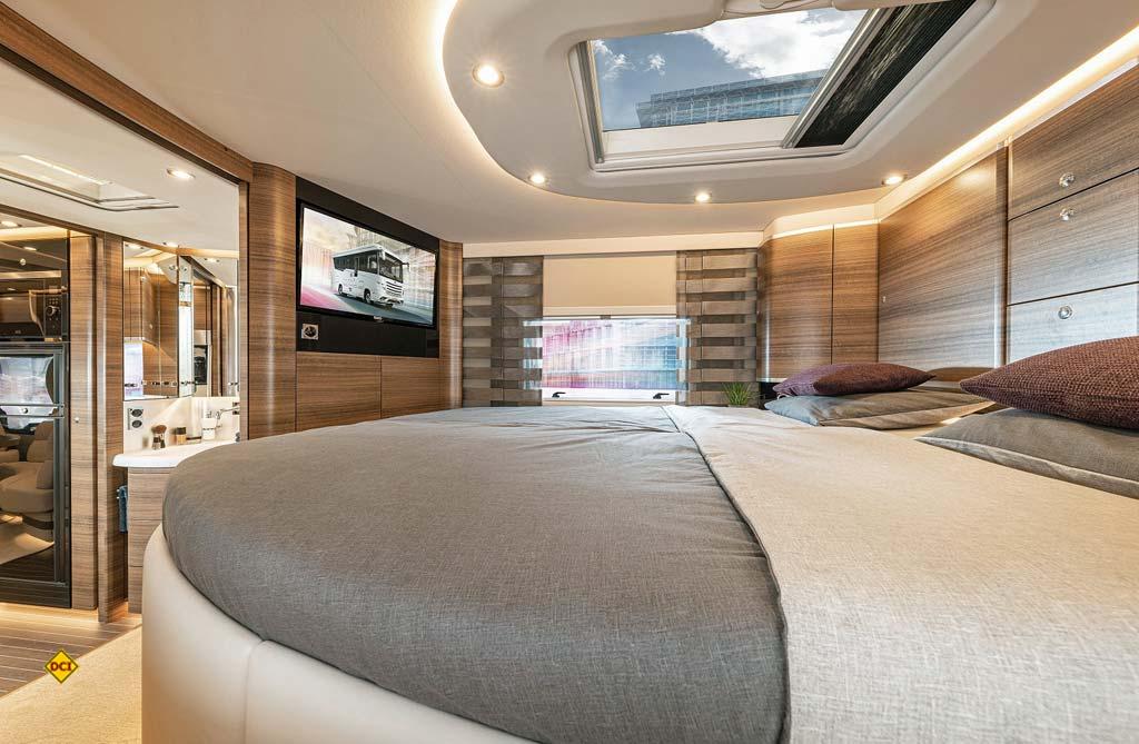 Standesgemäß: Angenehme Ruhe im Schlafbereich des Liner 1090 nach dem anstrengenden Oldtimer-Concour. (Foto: Concorde)