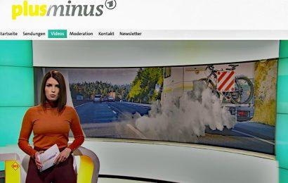 Das ARD-Wirtschaftsmagazin plusminus mit Moderatorin Sandra Rieß berichtet über das Fiat-Dieselgate bei Wohnmobilen. (Screenshot ARD/D.C.I.)