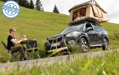 Mit dem Dachzelt wird der SUV Subaru Forester zum Camping-Mobil. (Foto: Subaru)