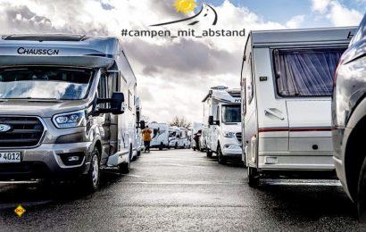 """Die Facebook-Gruppe """"Campen mit Abstand"""" veranstaltet am 17. April in Berlin eine große Wohnmobil-Demo zur Öffnung von Stell-und Campingplätzen. (Foto: Campen mit Abstand)"""