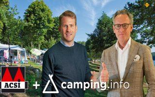 Maximilian Möhrle, CEO Camping.info (links) und Ramon van Reine, CEO ACSI (rechts) starten eine gemeinsame Buchungsplattform für Camping. (Foto: ACSI)